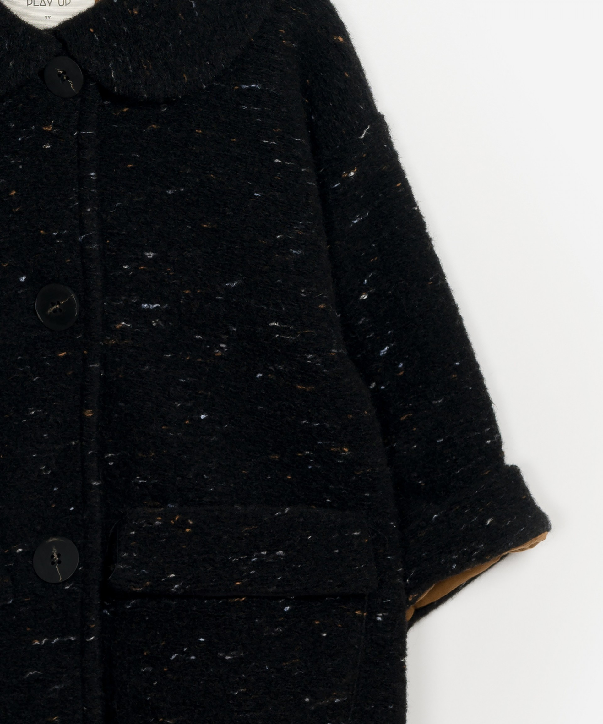 Casaco de lã com gola