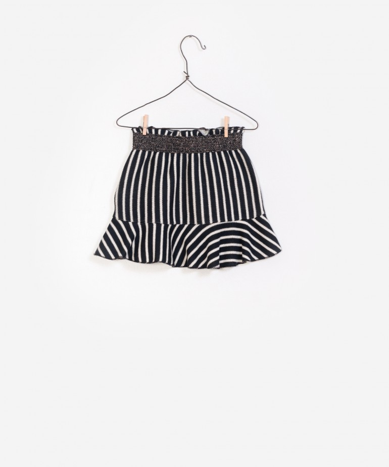Striped Double Face Skirt