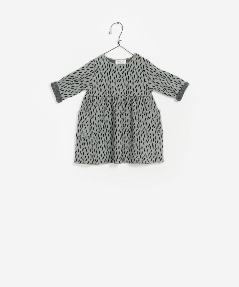 Vestido jacquard algodão orgânico