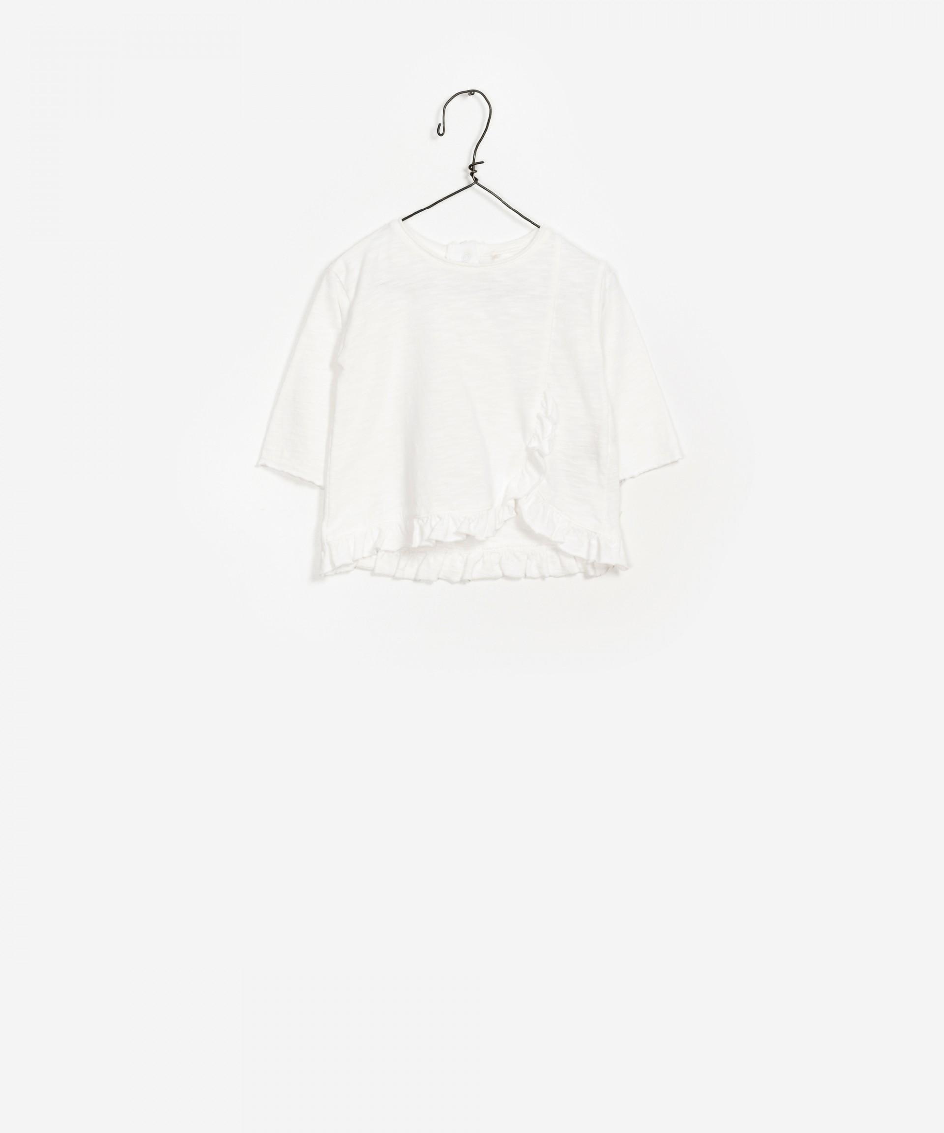 Ruffled Organic Cotton Sweater