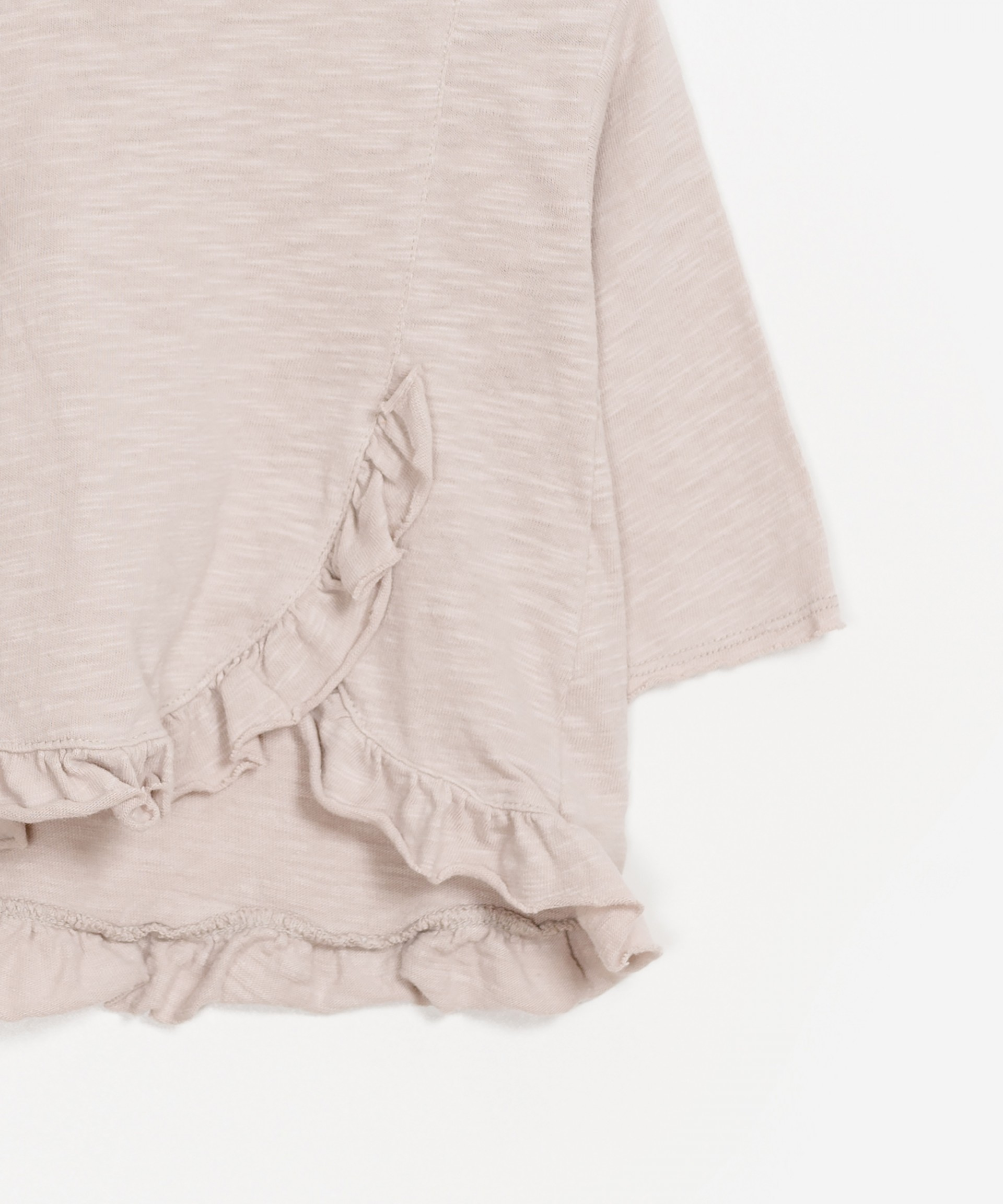 Ruffled Organic Cotton Sweater