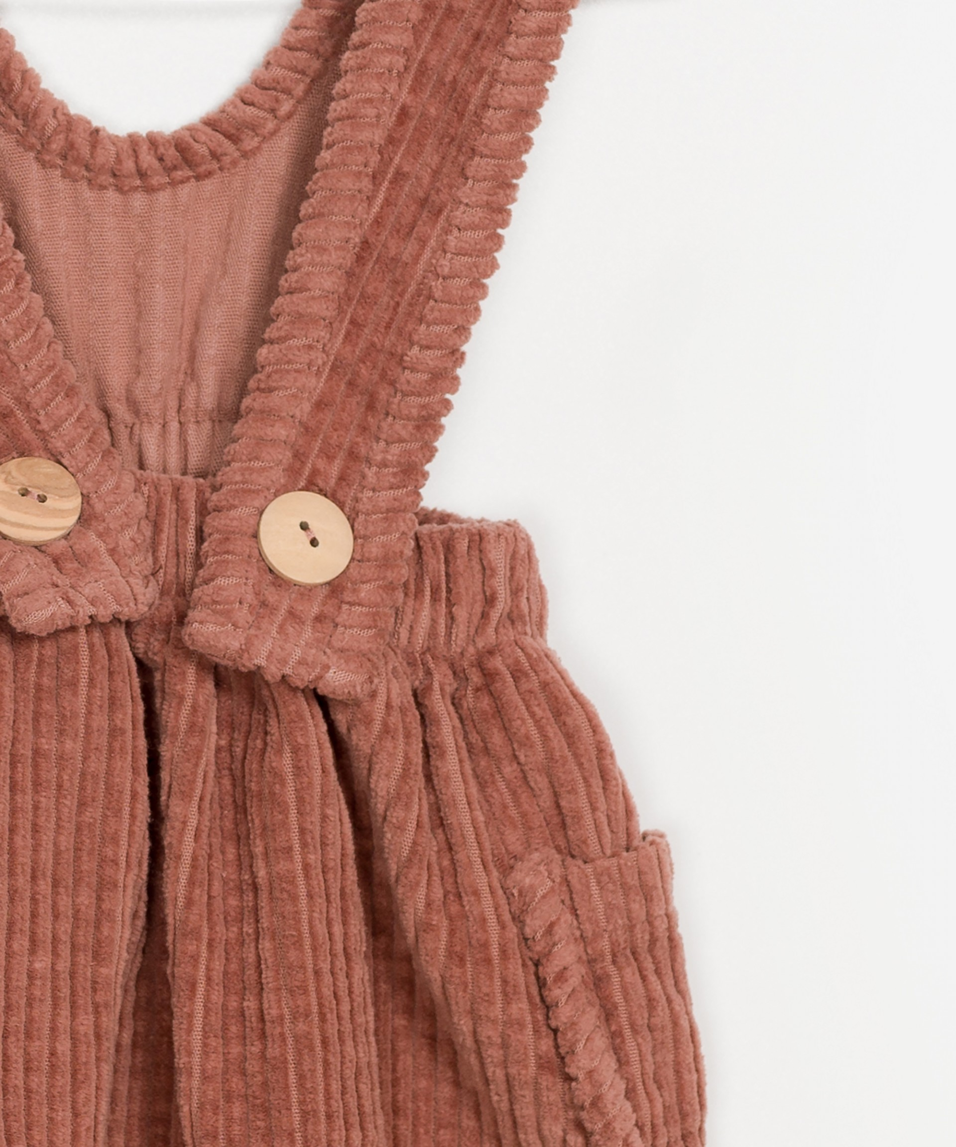 Corduroy Dungaree Skirt
