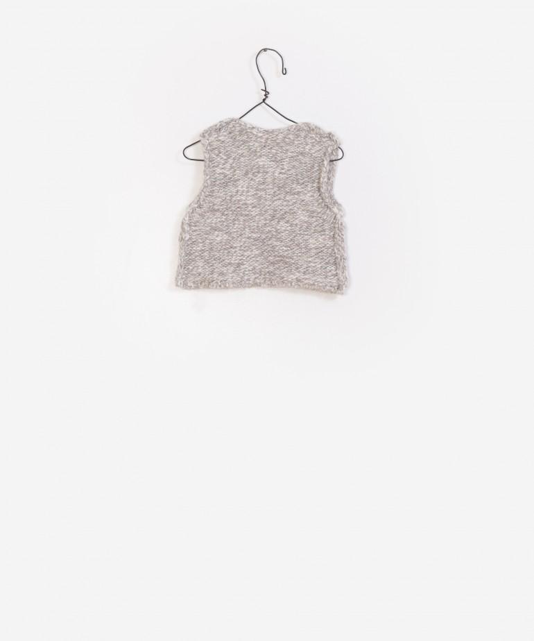 Colete tricotado