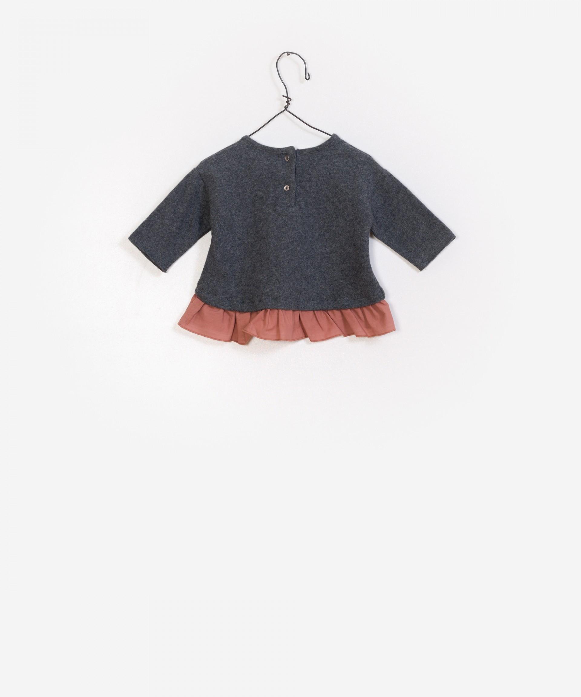 Jersey con volantes 100% algodón