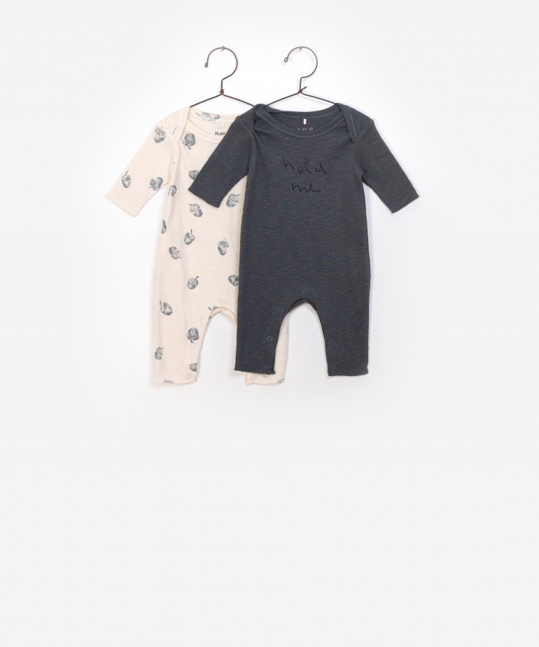 Pack 2 Rib Flamé Jumpsuit