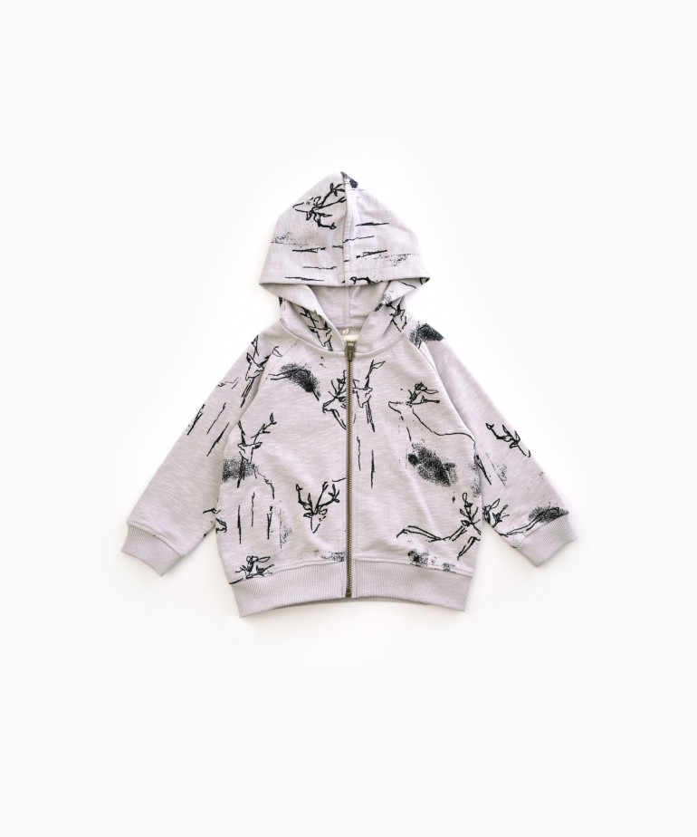 Printed Fleece Jacket