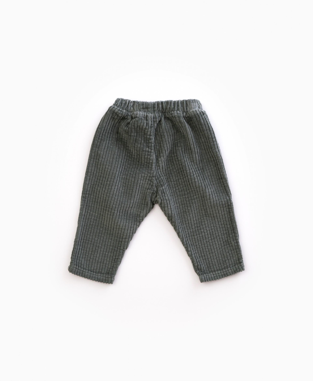 Pantalones anchos de bombazina