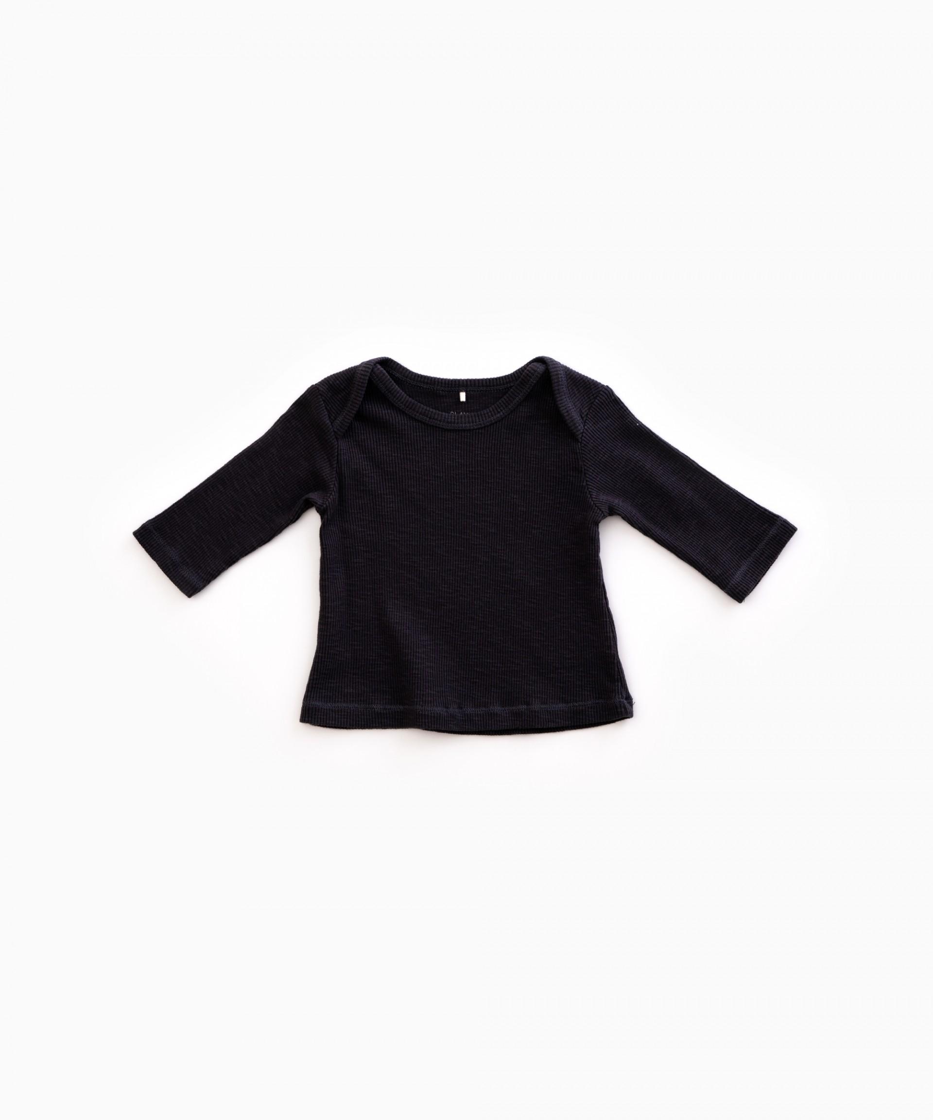 Suéter de manga larga RIB