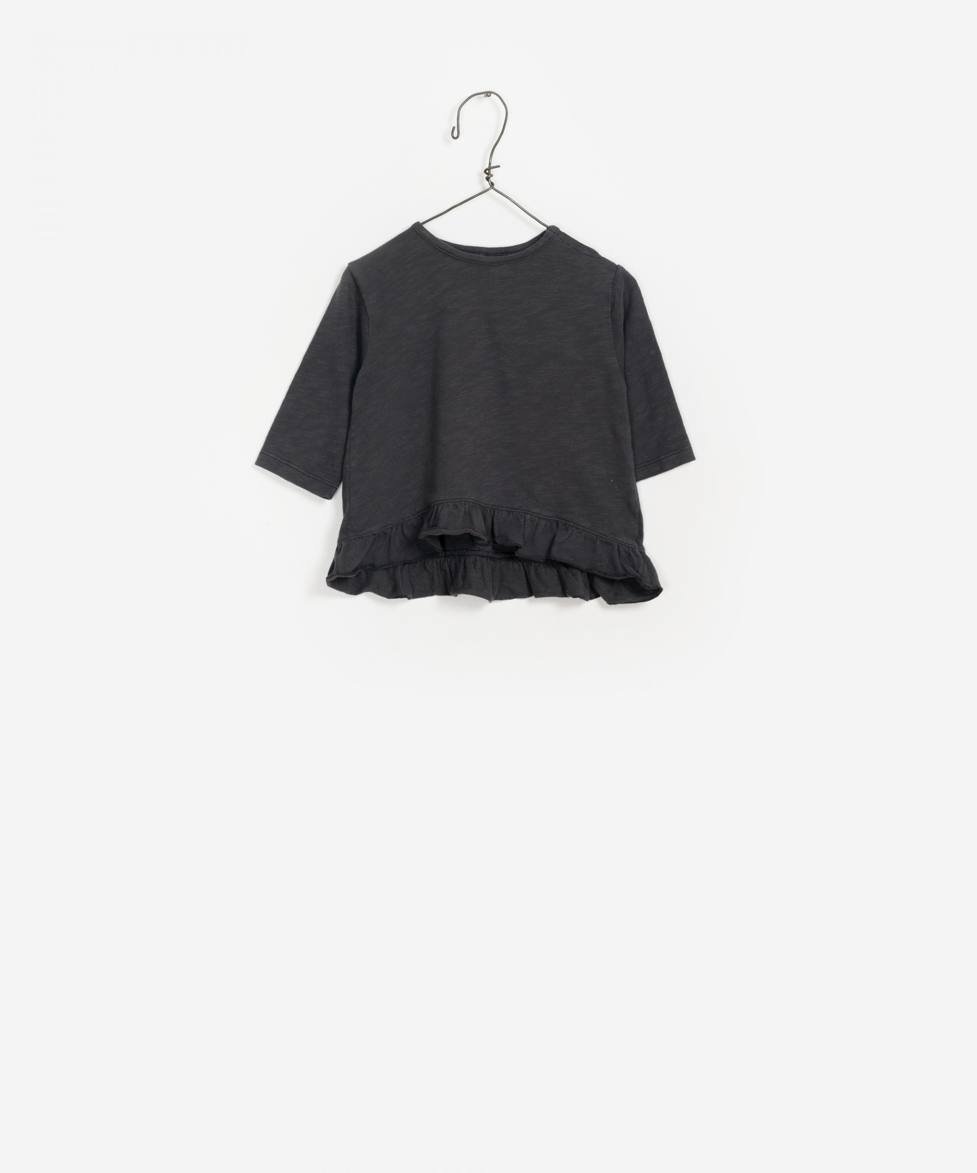 Ruffled Jersey LS T-shirt