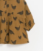 Printed Woven Tunic with collar