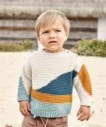 Knitted sweater in organic cotton | Weaving