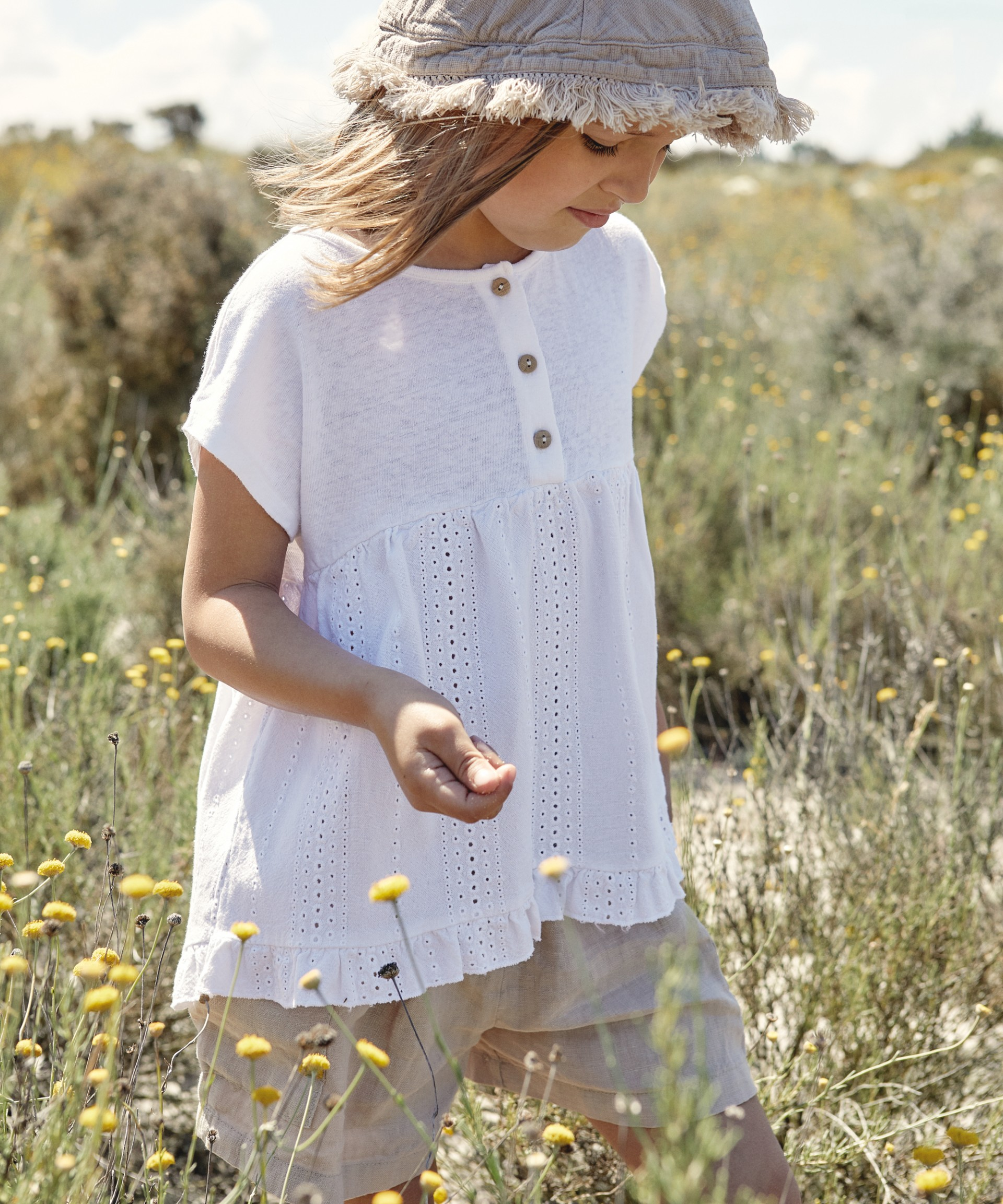 Knitted and fabric tunic | Weaving