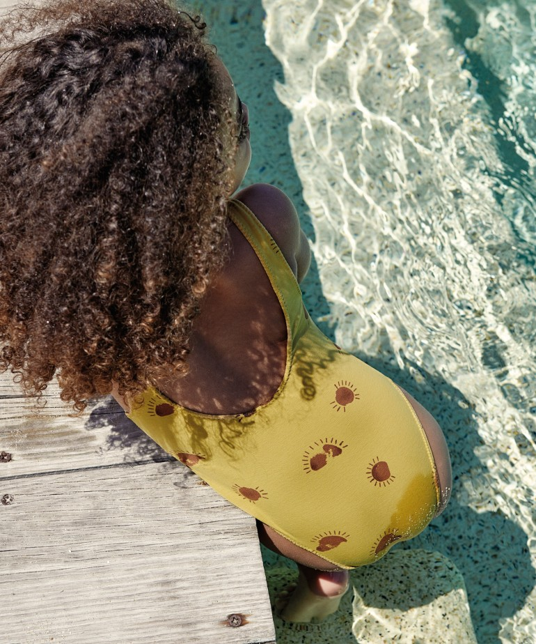 Fato de banho com estampado de sol