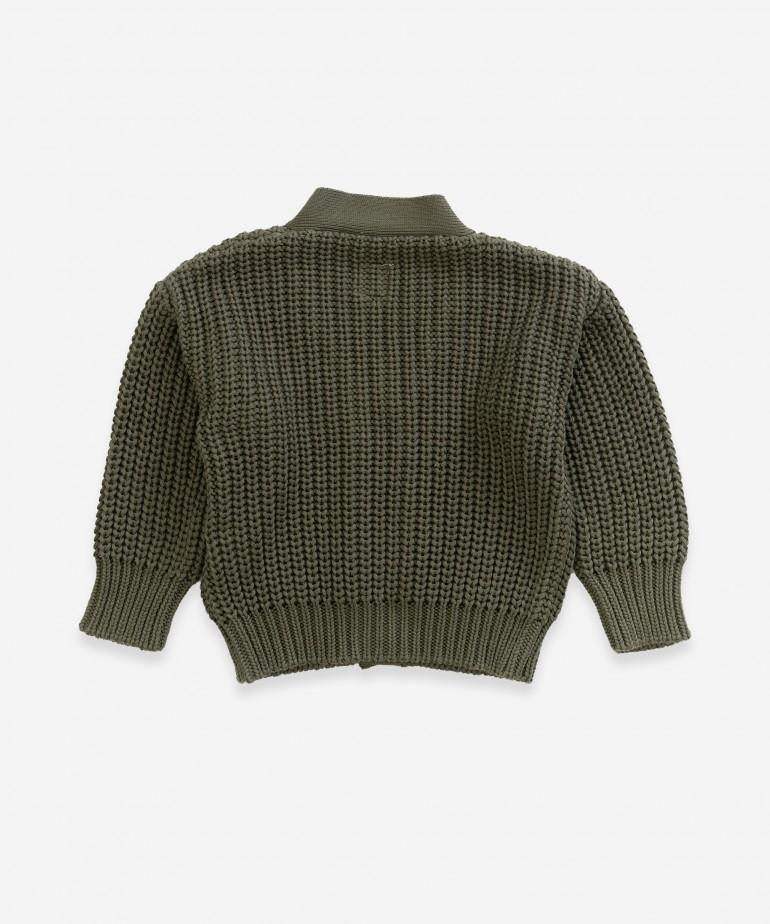 Casaco tricot em algodão orgânico