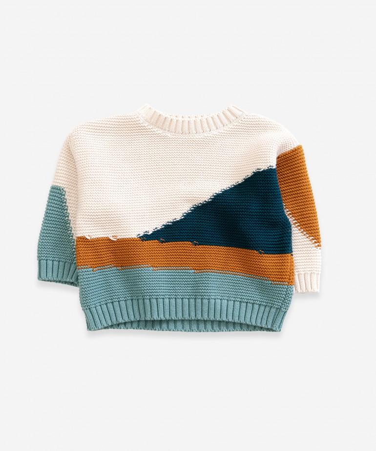 Camisola tricot multicor