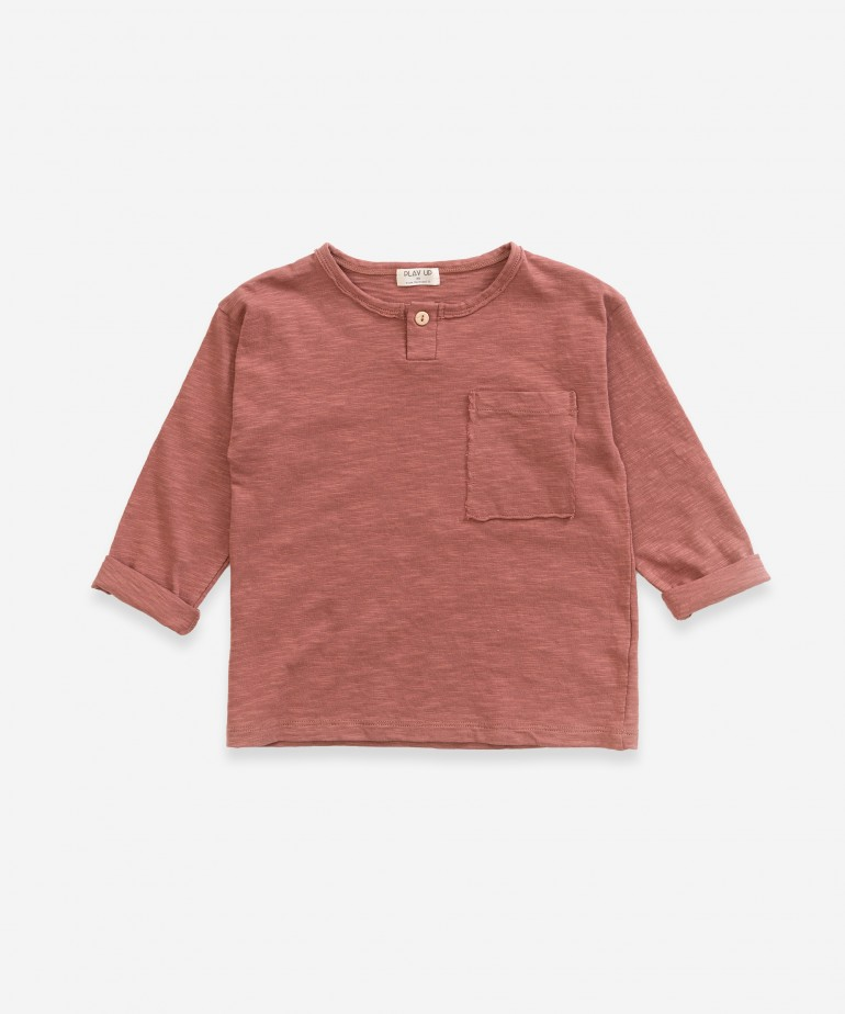 T-shirt de manga comprida com bolso