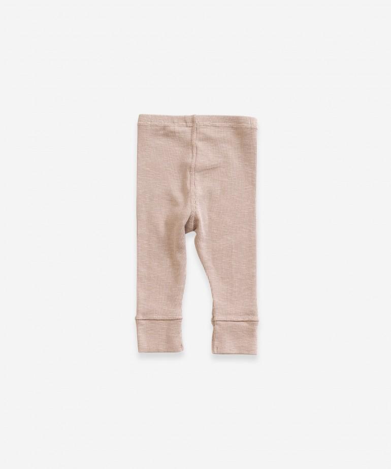 Leggings con tobillo elástico