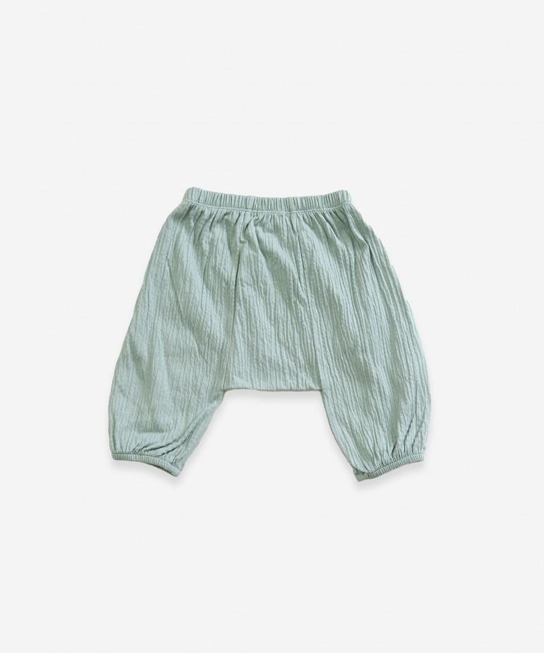 Pantalón de punto de algodón orgánico