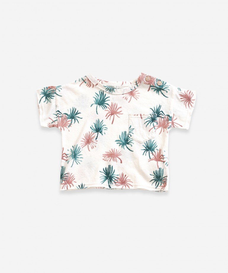 T-shirt with palmtree print