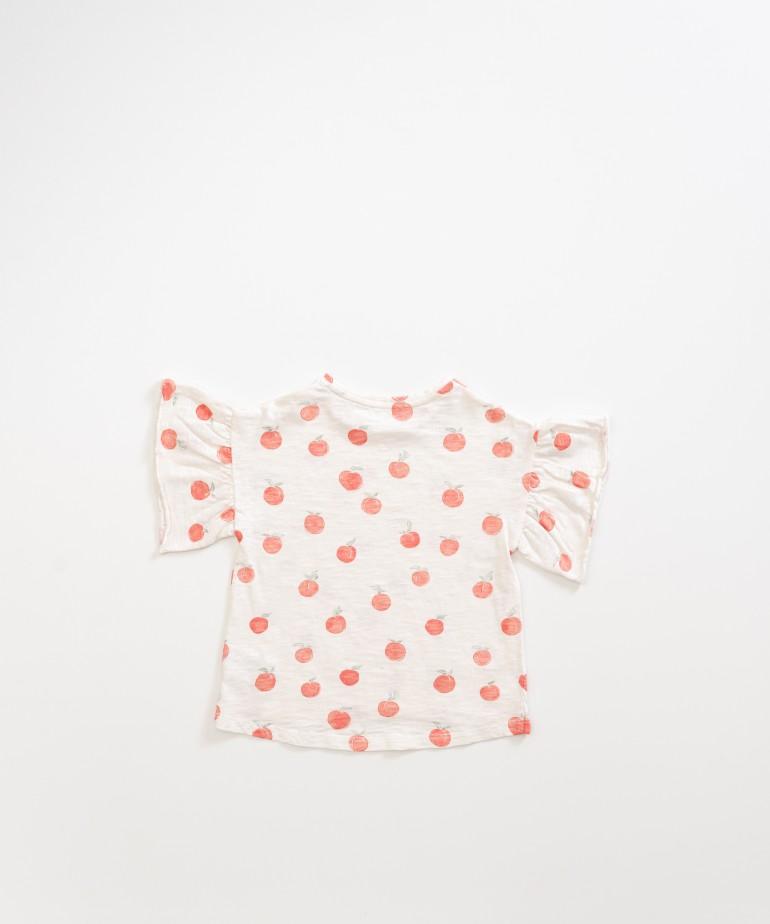 T-shirt with peach print