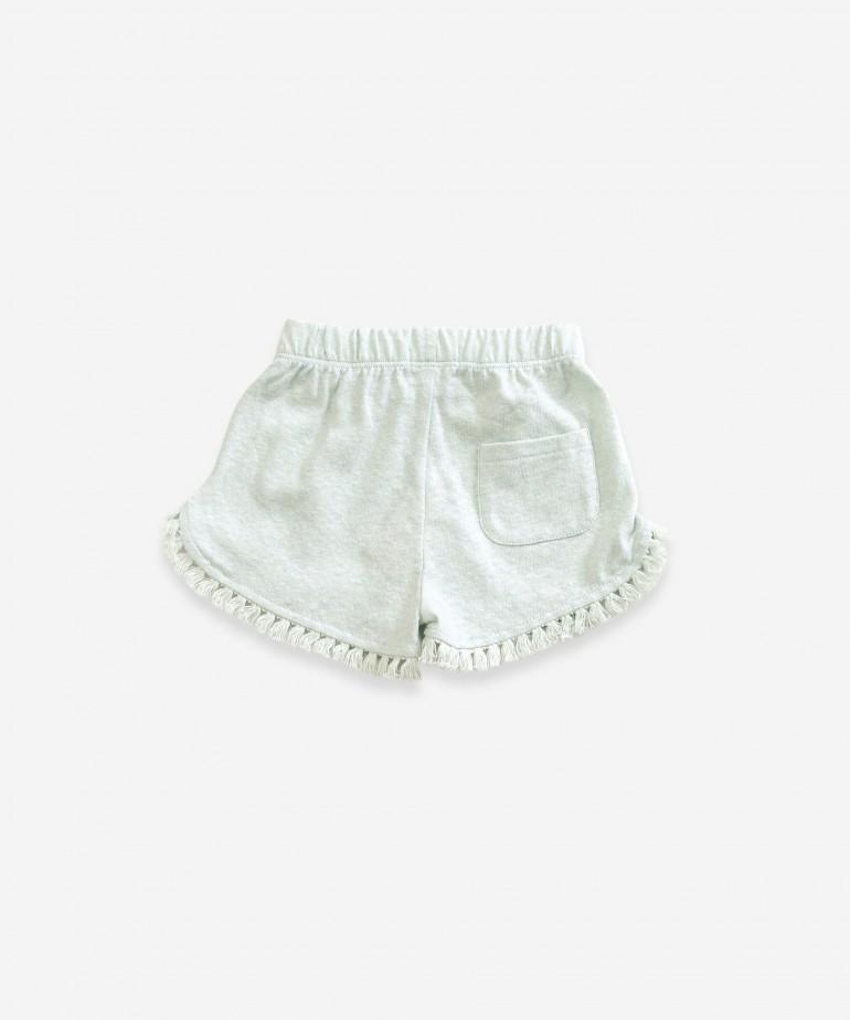 Shorts with fringe