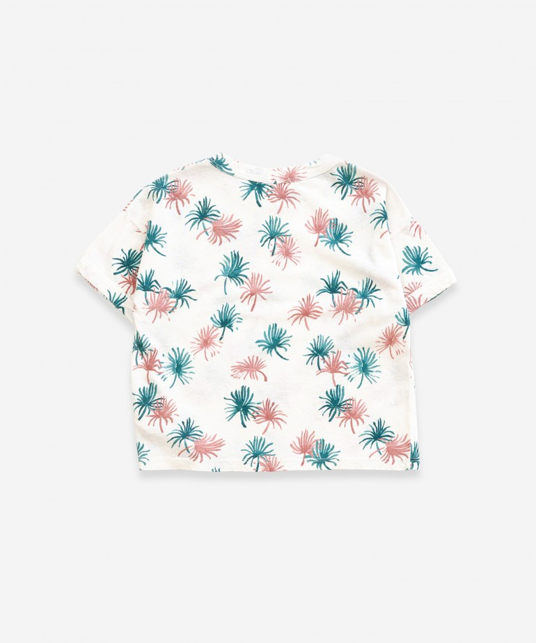 T-shirt with palmtree print