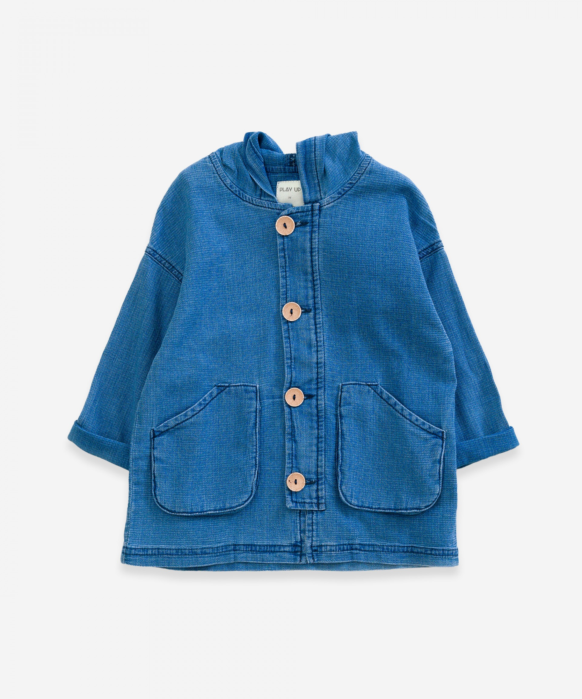 Denim jacket with pockets | Weaving