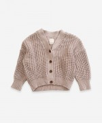 Knitted jacket with resin buttons | Weaving
