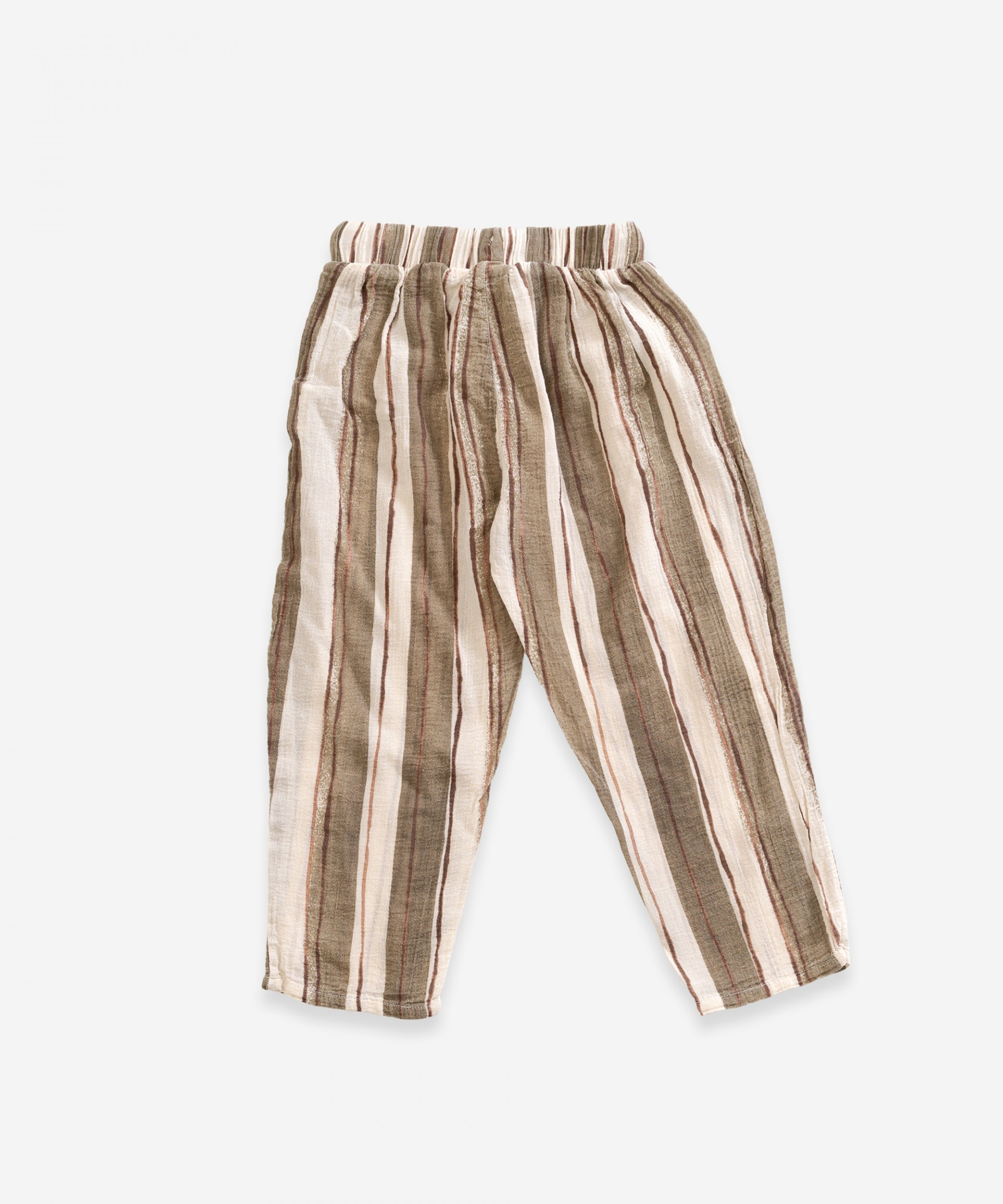 Striped cotton trousers | Weaving