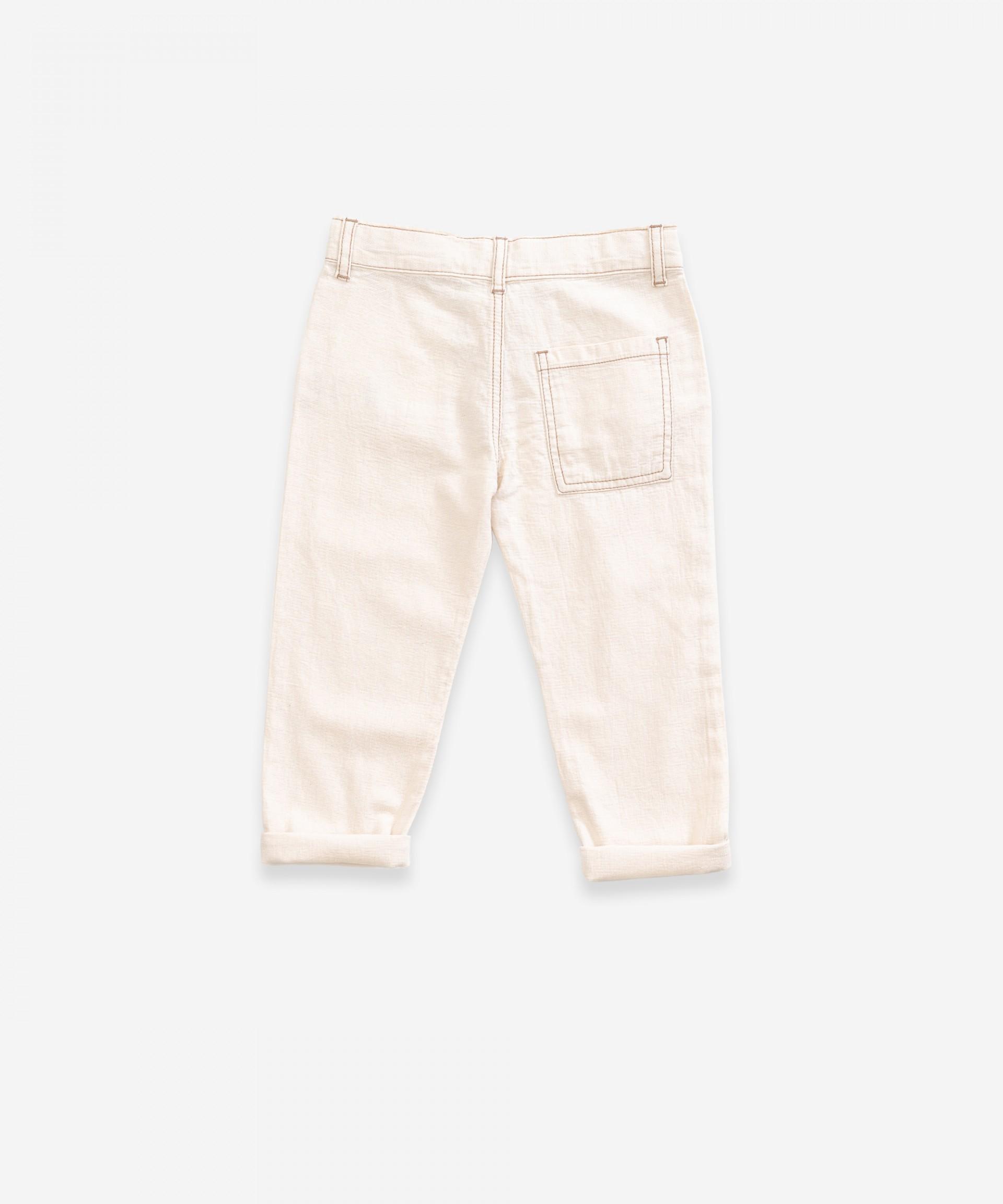 Pantalón de sarga con bolsillos | Weaving