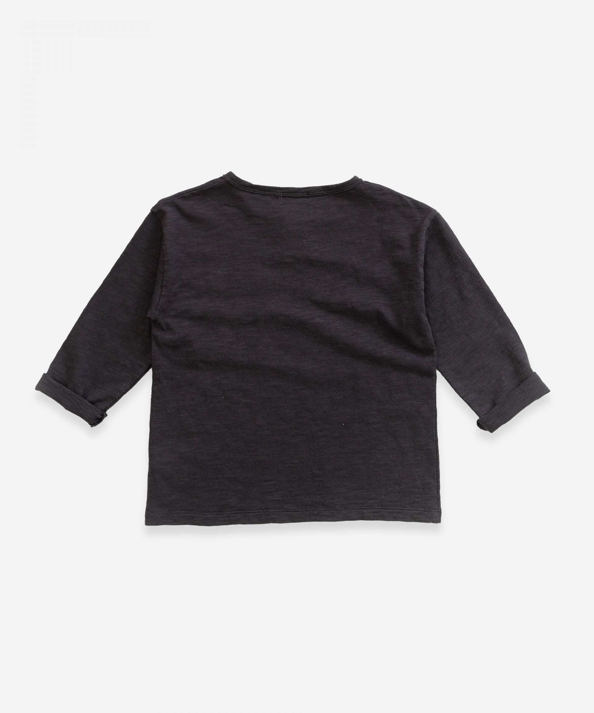 Long-sleeved t-shirt in organic cotton | Weaving