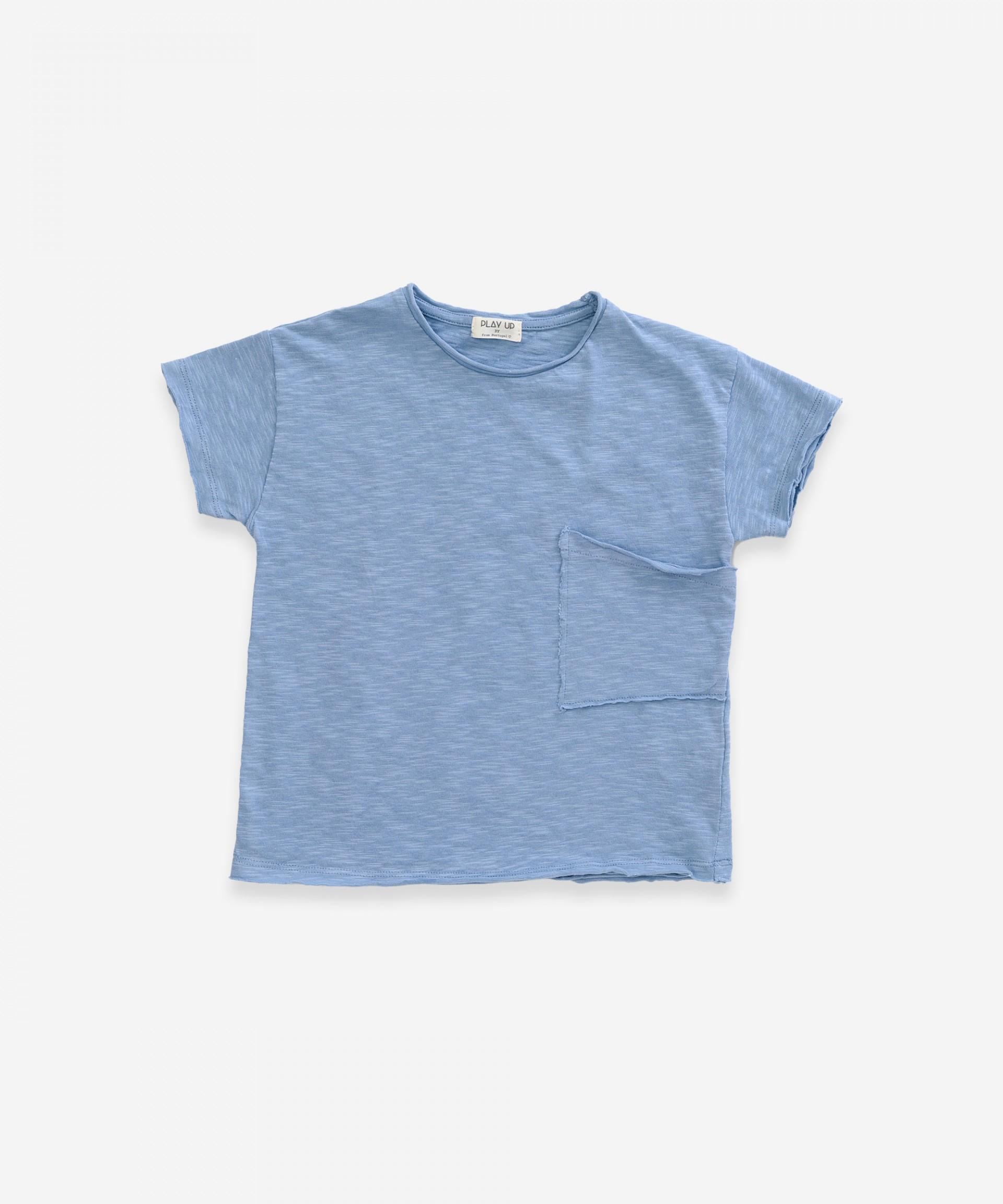 T-Shirt in cotone biologico con tasca | Weaving