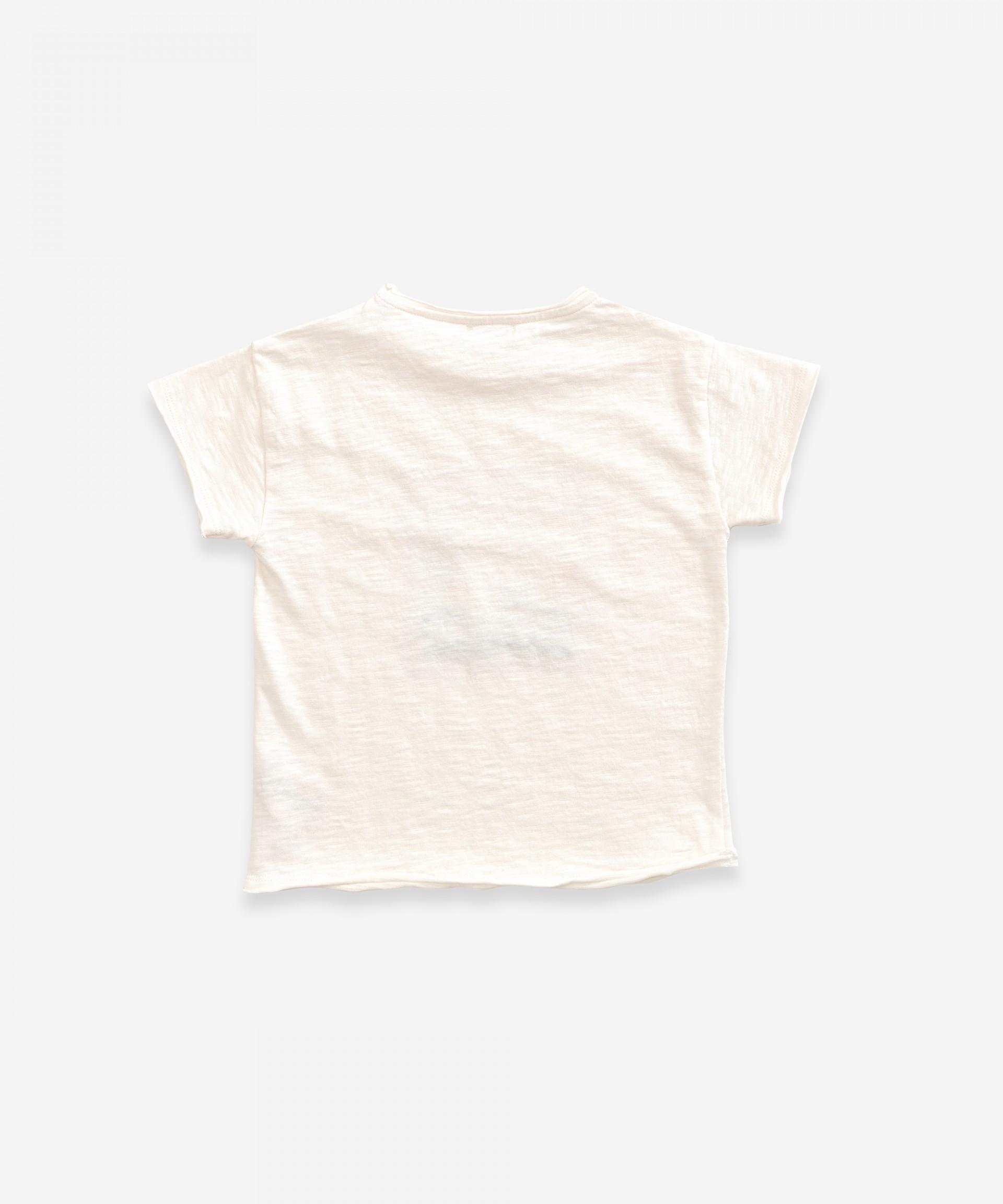 T-Shirt in cotone biologico con stampa | Weaving