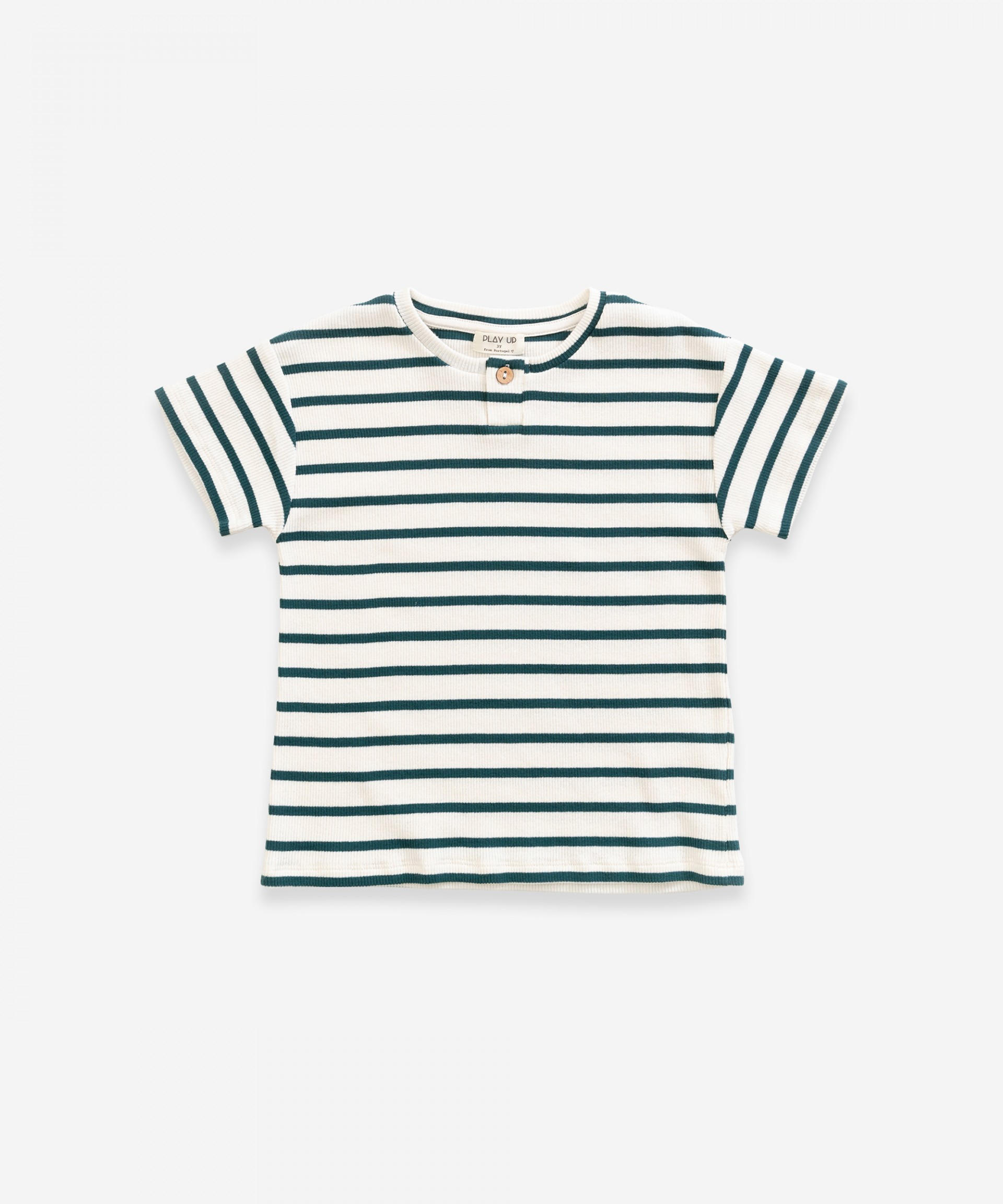 T-shirt in organic cotton with stripes | Weaving