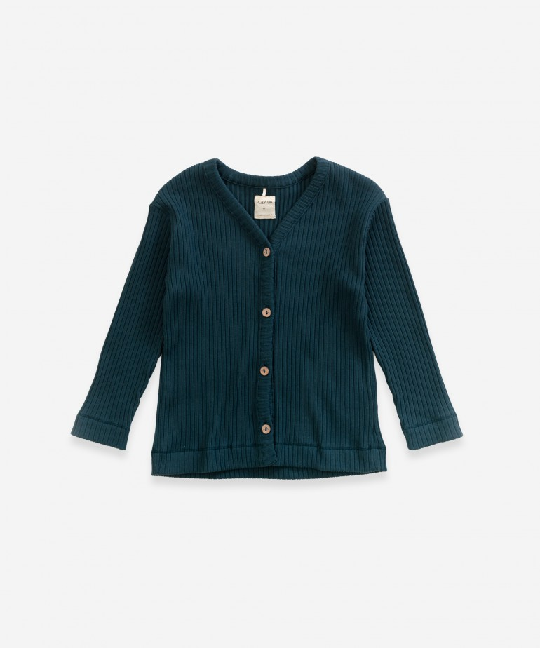 Cardigan in organic cotton