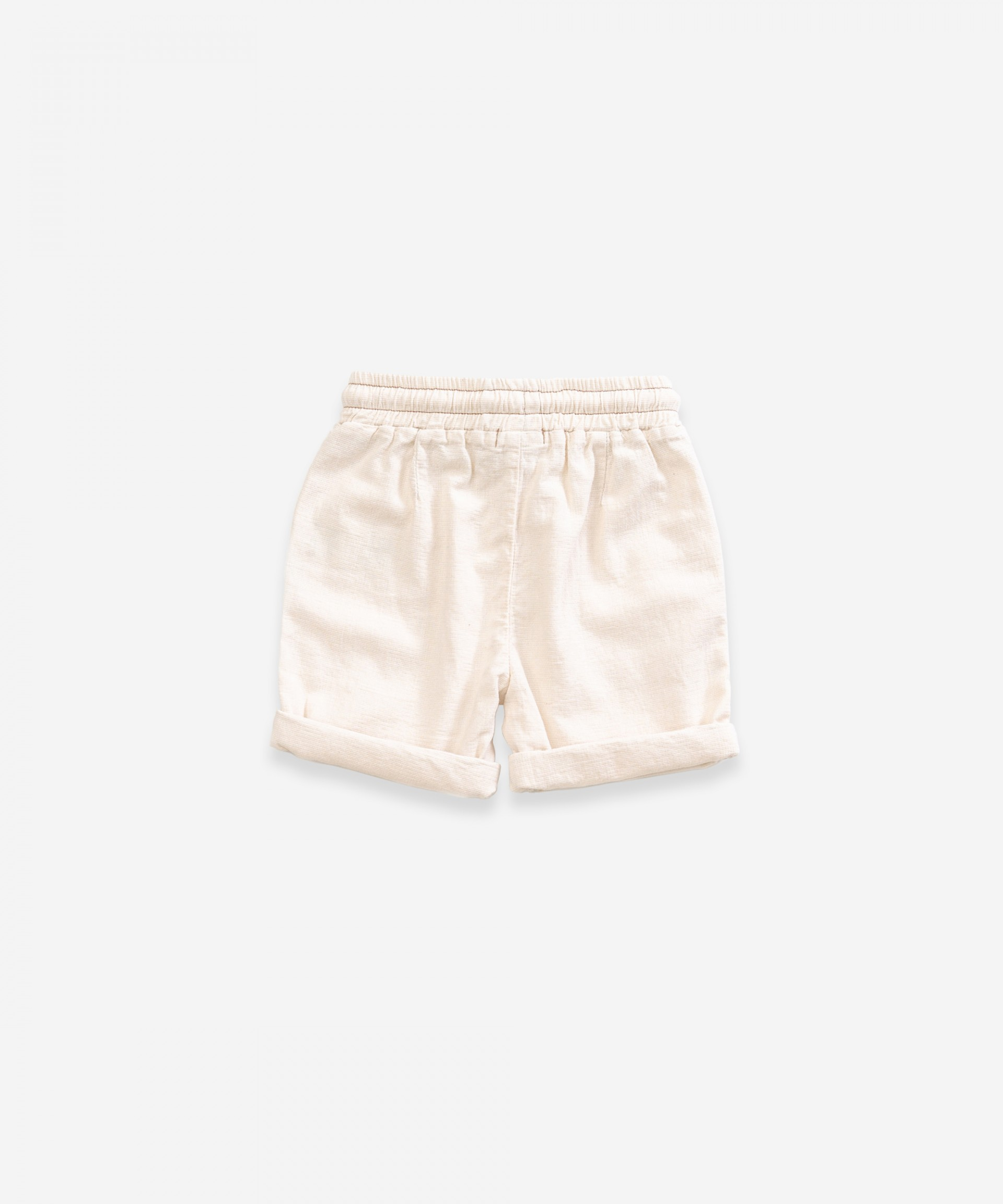 Twill shorts with pockets | Weaving