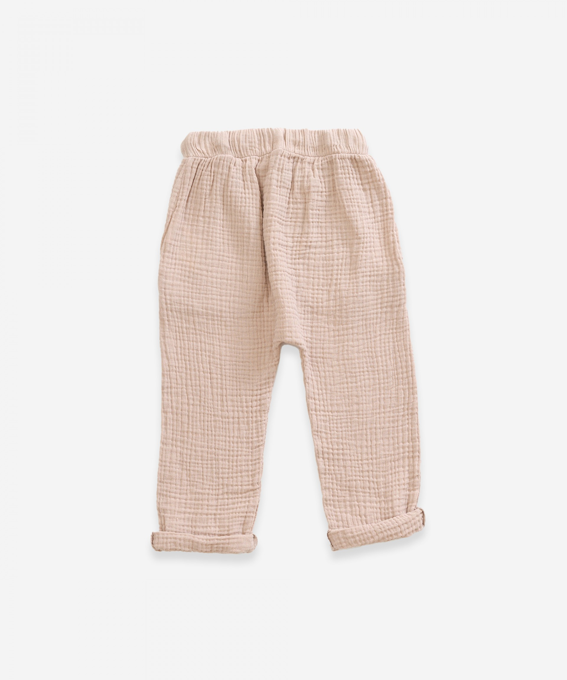 Trousers in organic cotton with pockets | Weaving