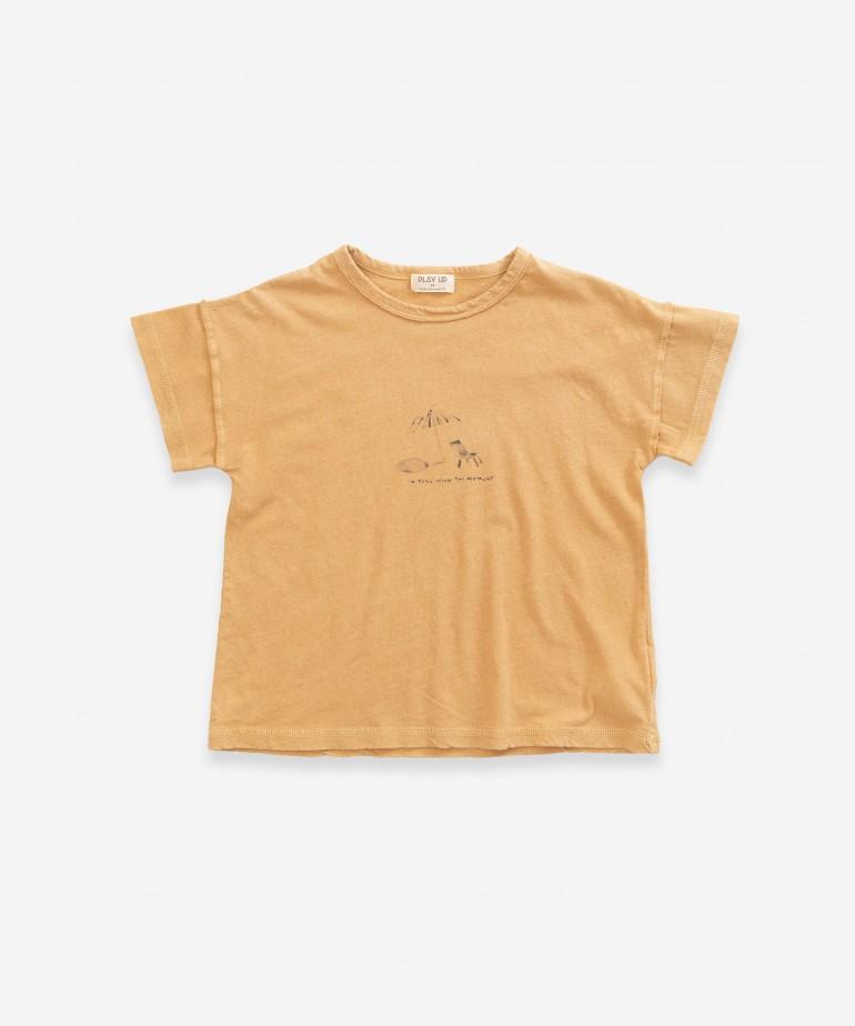 T-Shirt in cotone biologico e lino