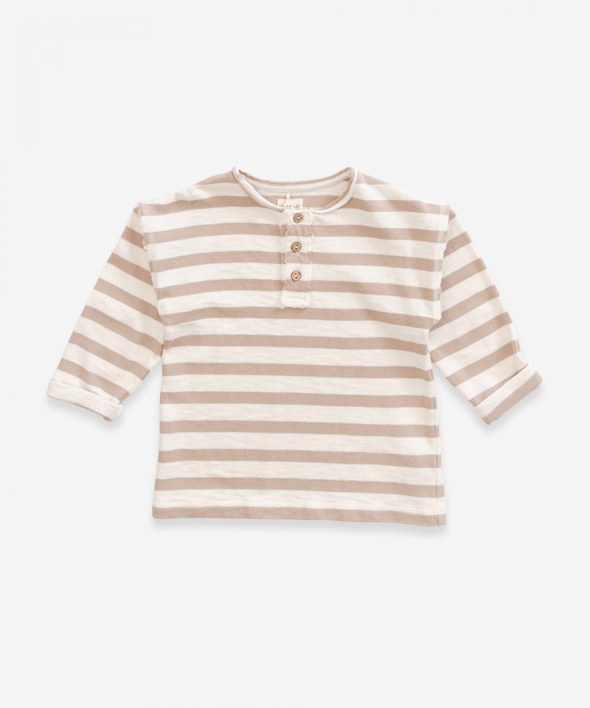 Jersey de algodón con abertura de botones | Weaving