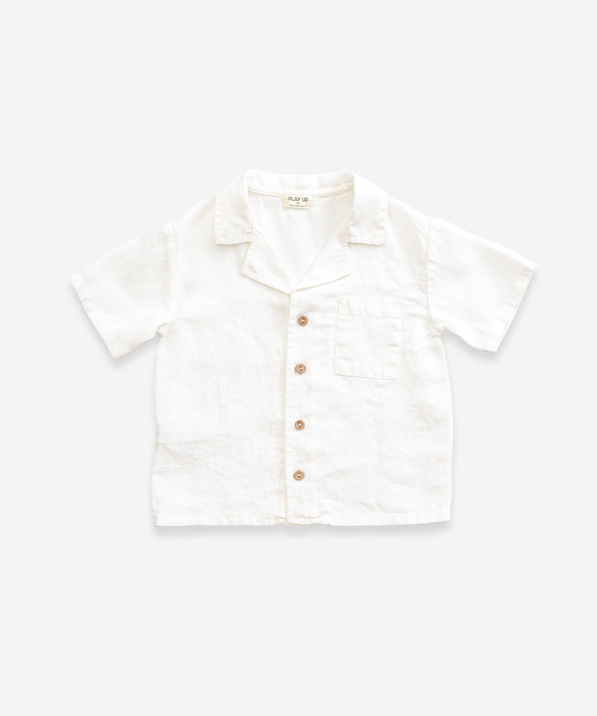 Camisa de linho com bolso | Weaving