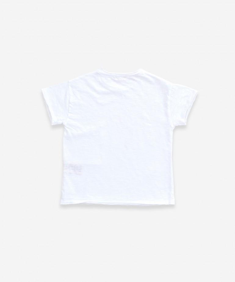 T-shirt con tasca asimmetrica