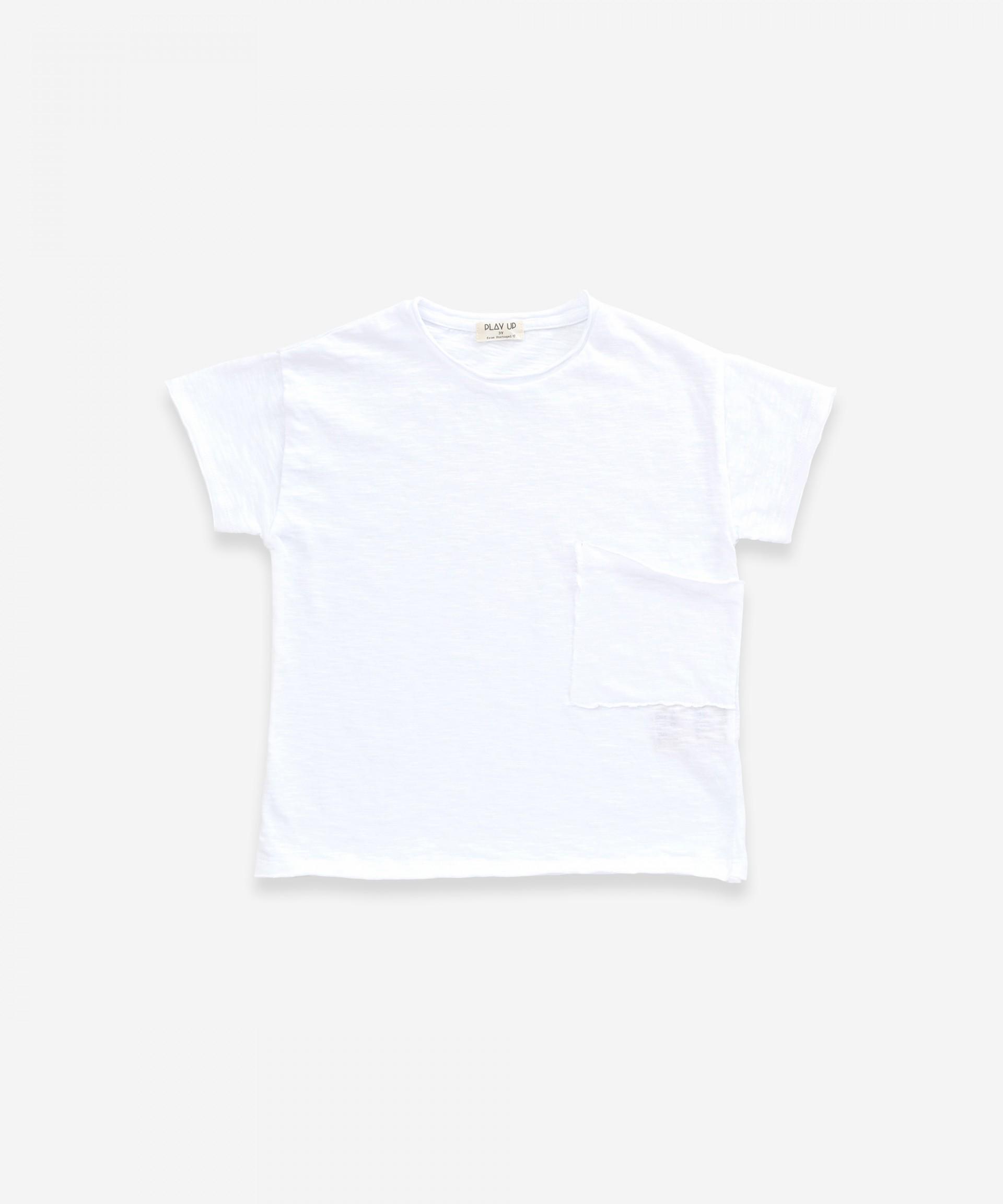 Camiseta con bolsillo de algodón orgánico | Weaving