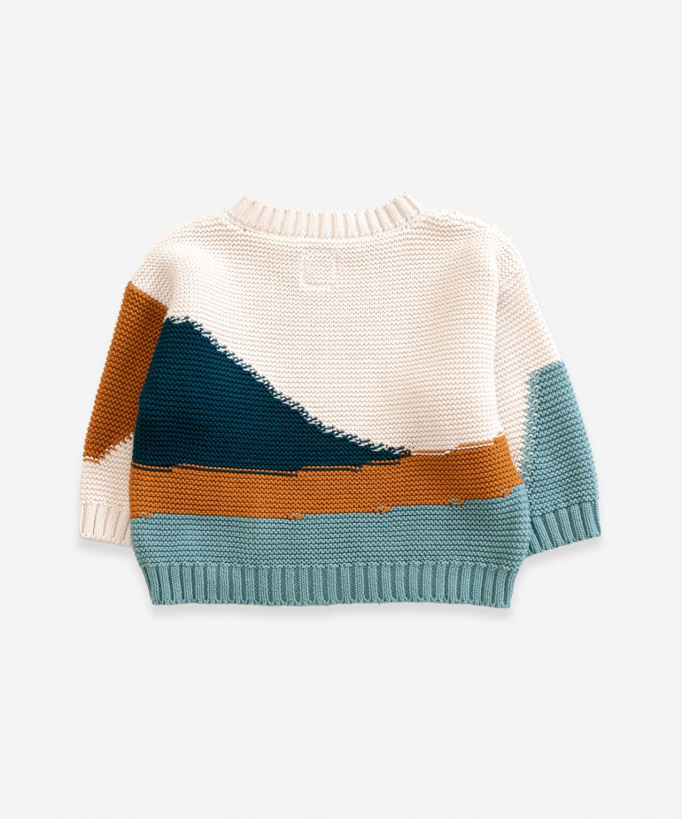 Multicolour knitted sweater