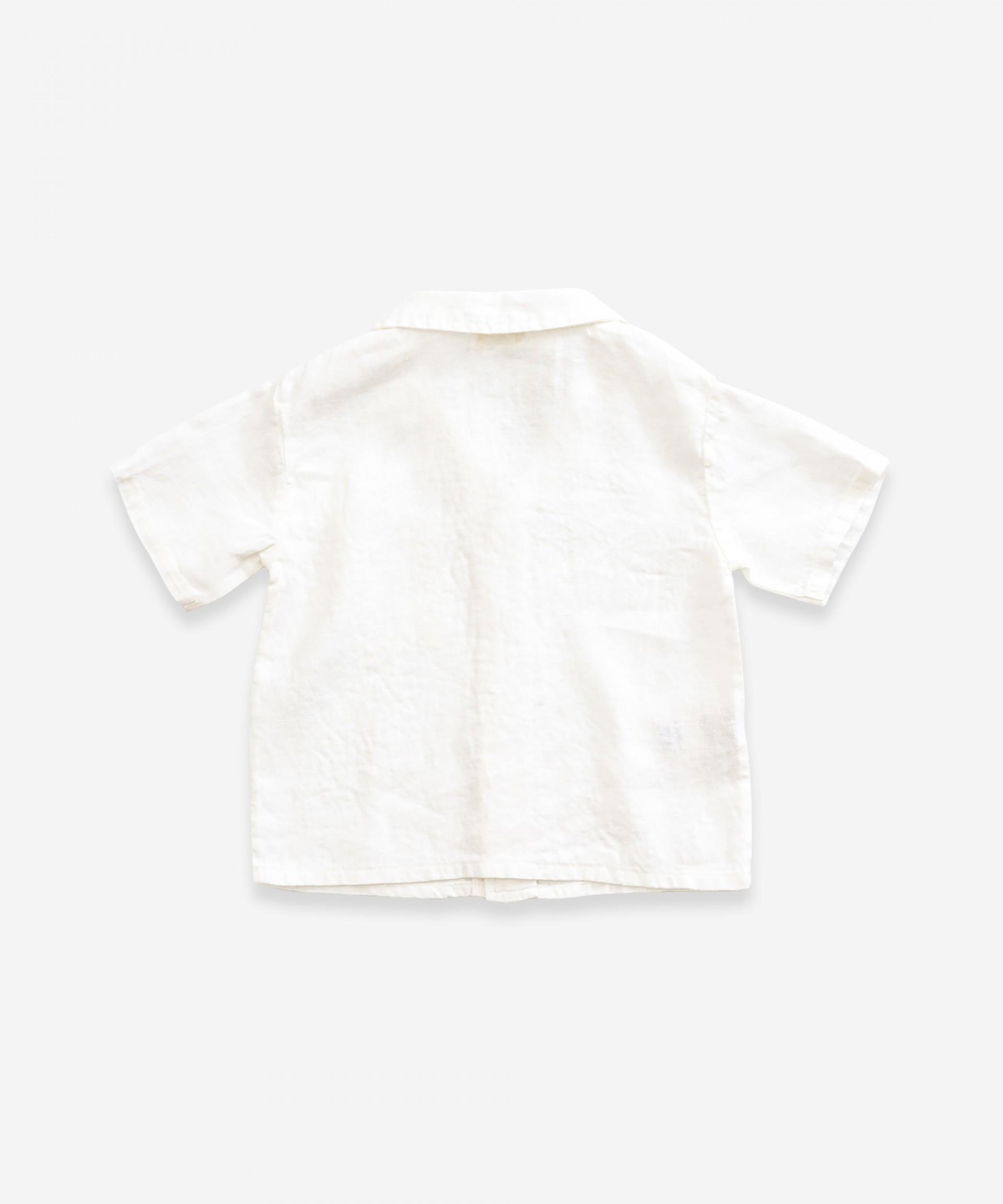 Camisa de lino con bolsillo | Weaving