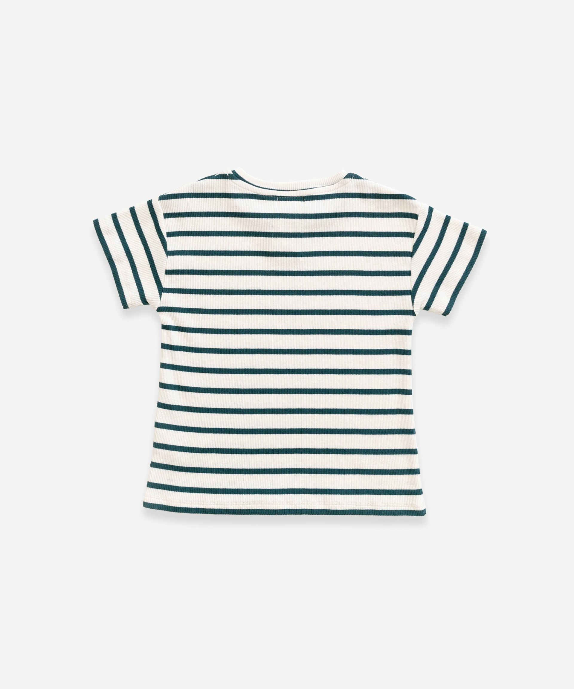 T-Shirt in cotone biologico a righe | Weaving