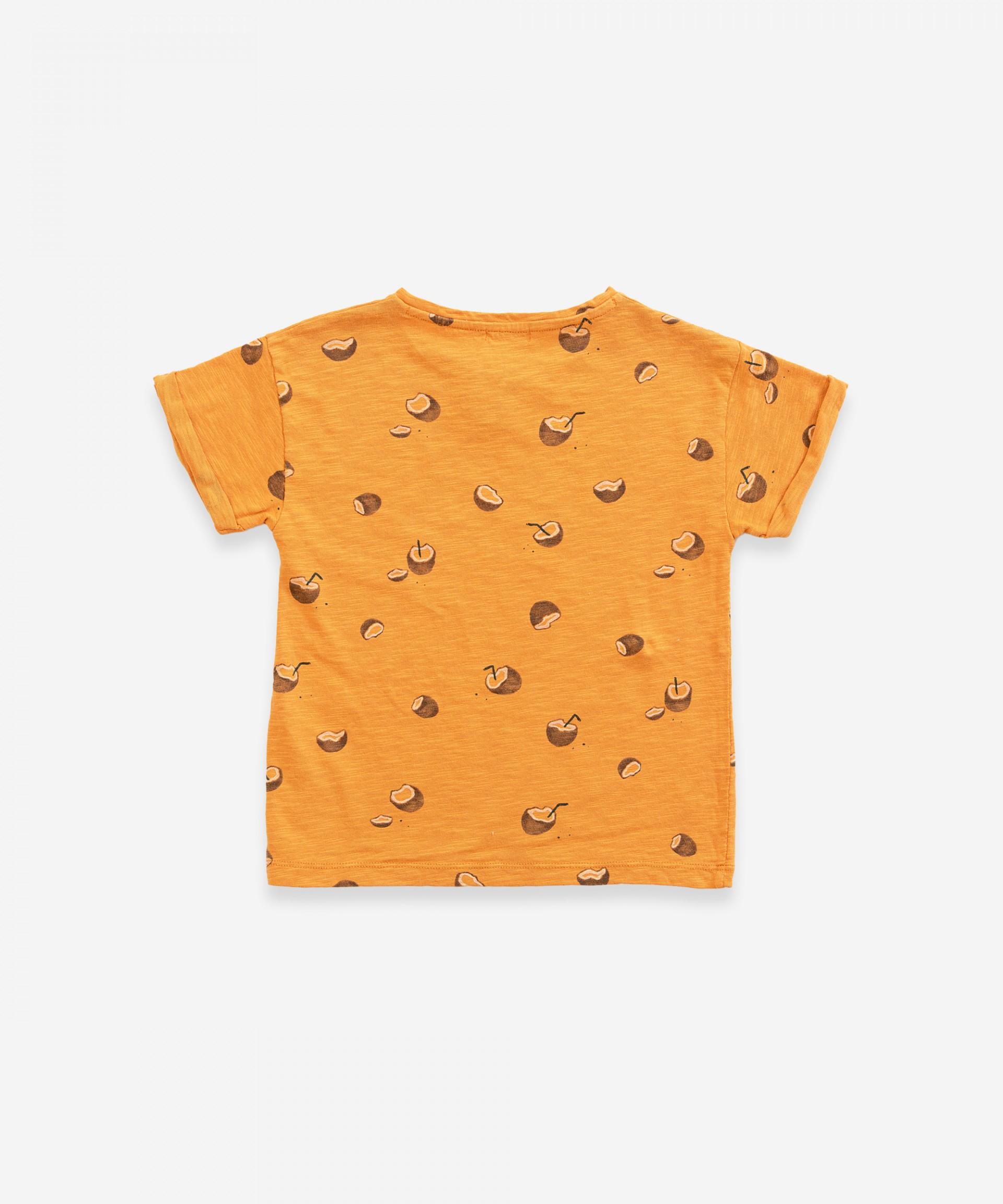 Camiseta estampada de algodón orgánico | Weaving