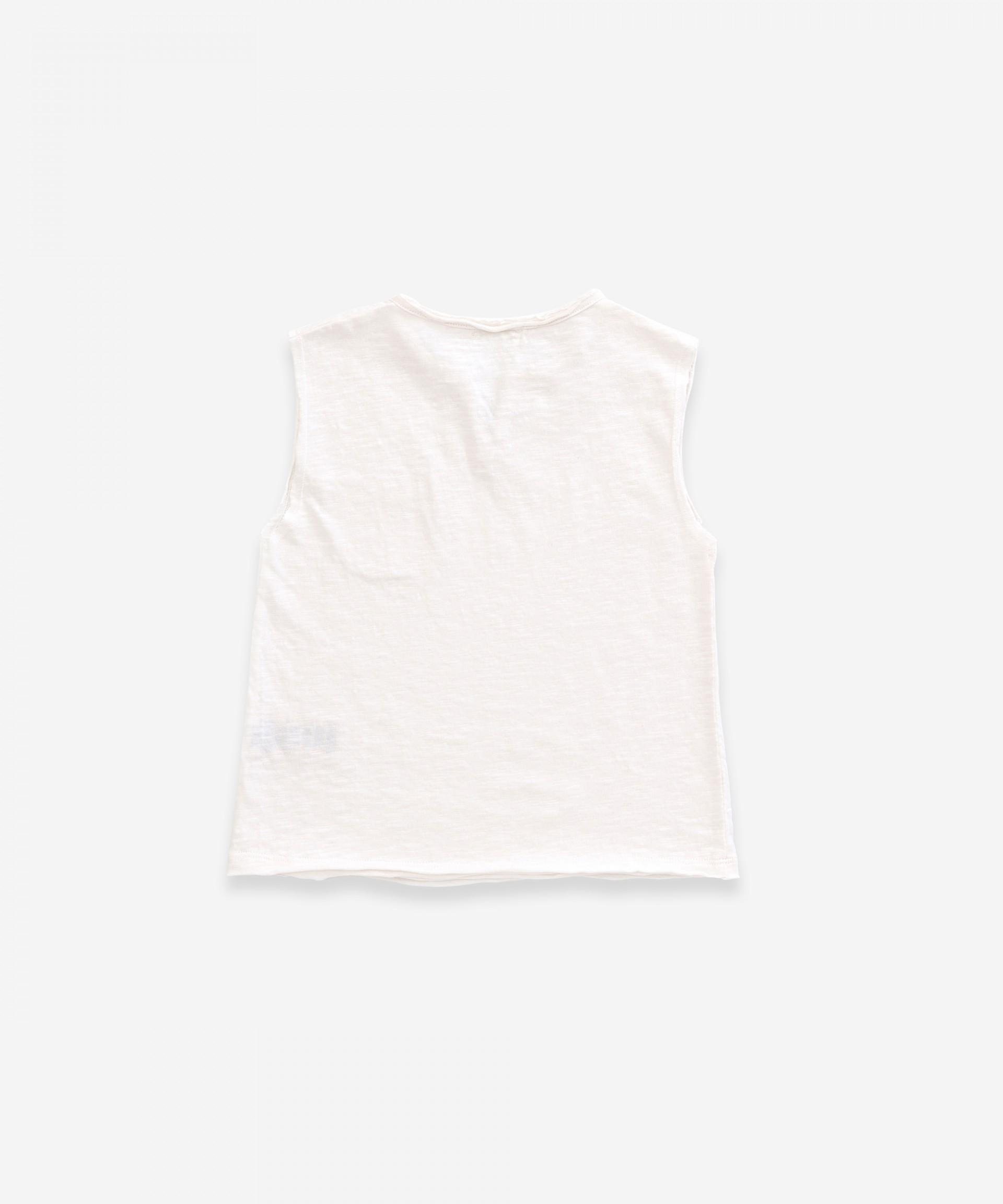 T-Shirt senza maniche in cotone biologico | Weaving