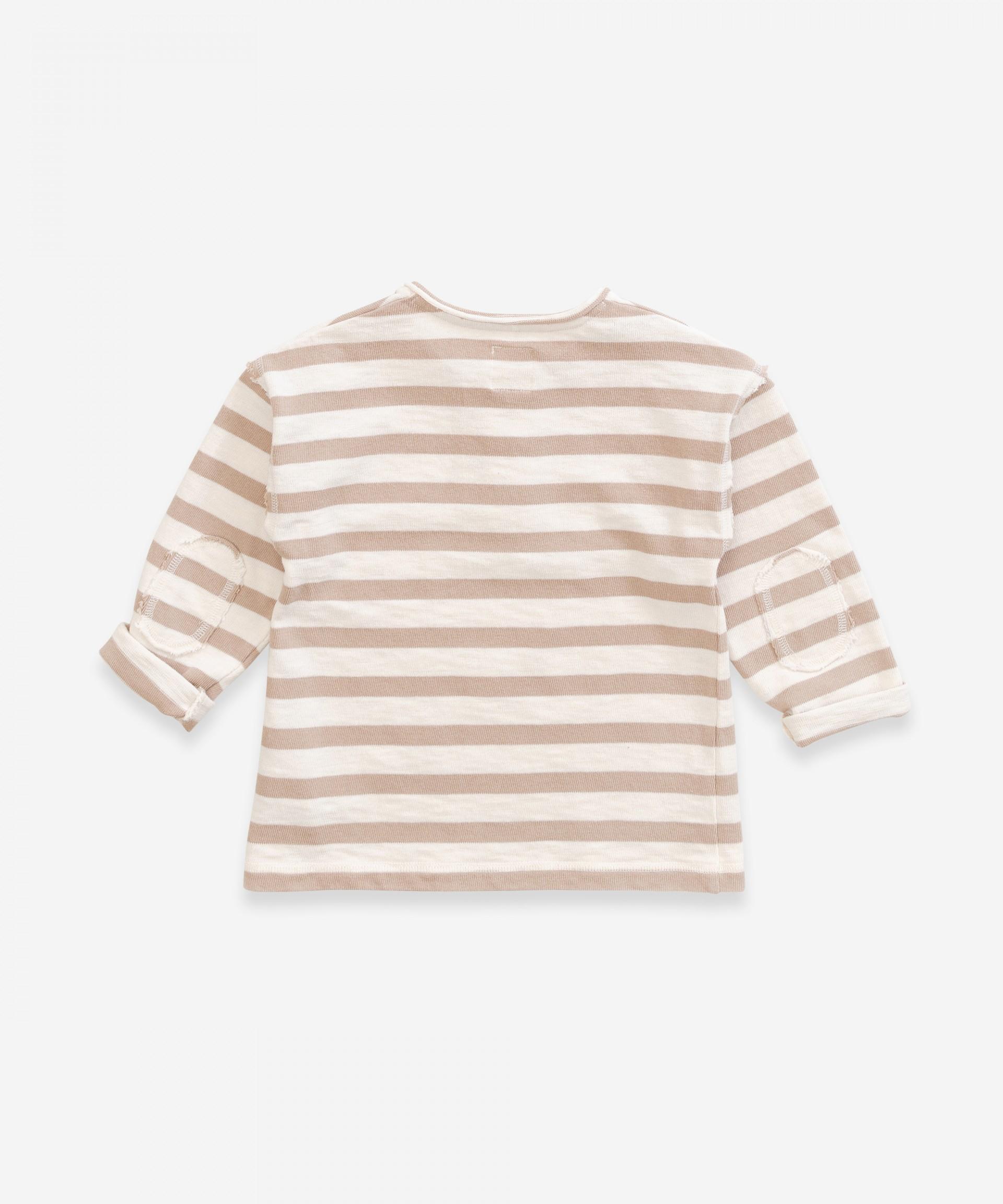 Camisola em algodão com abertura de botões | Weaving