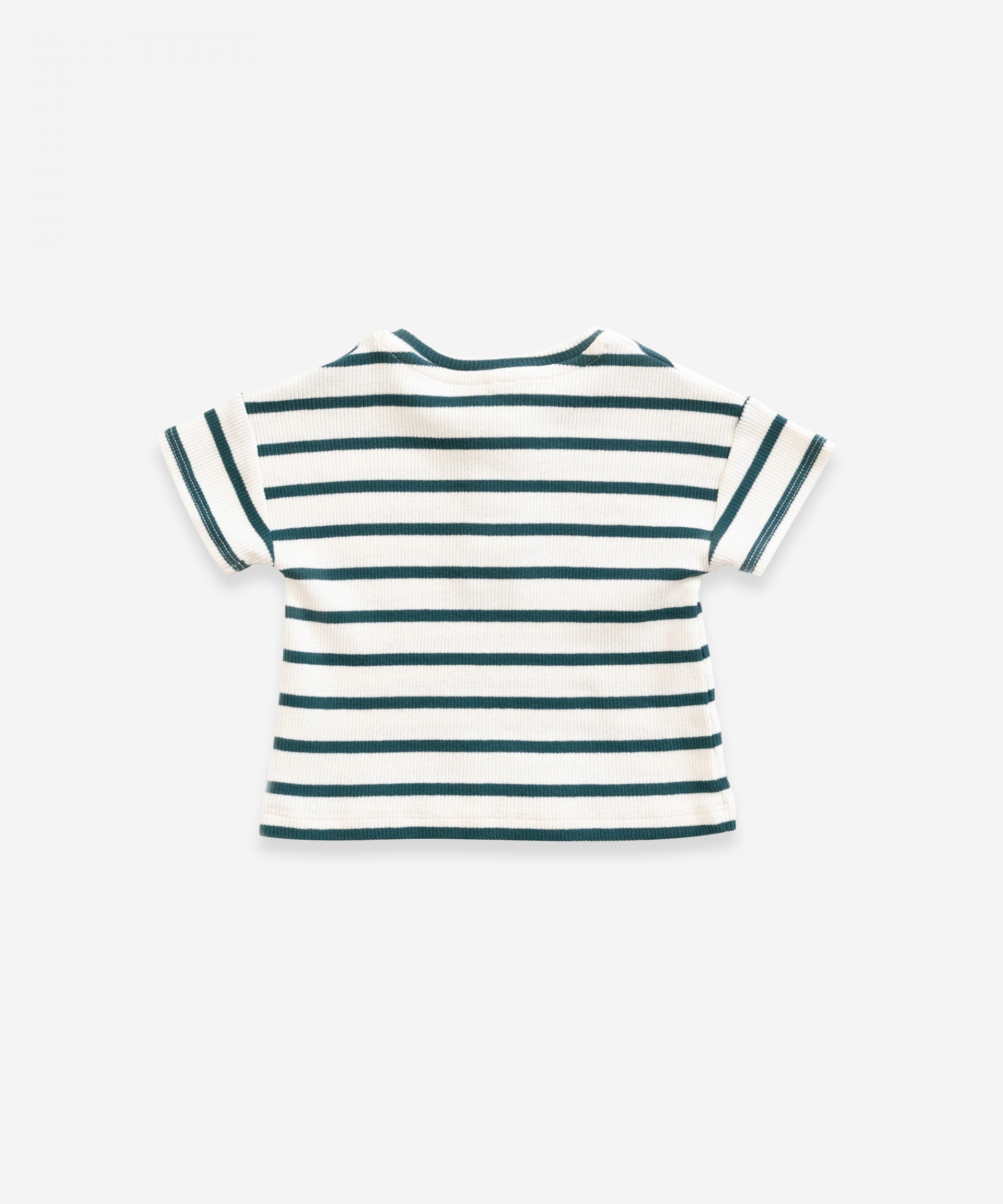 Striped t-shirt in organic cotton | Weaving