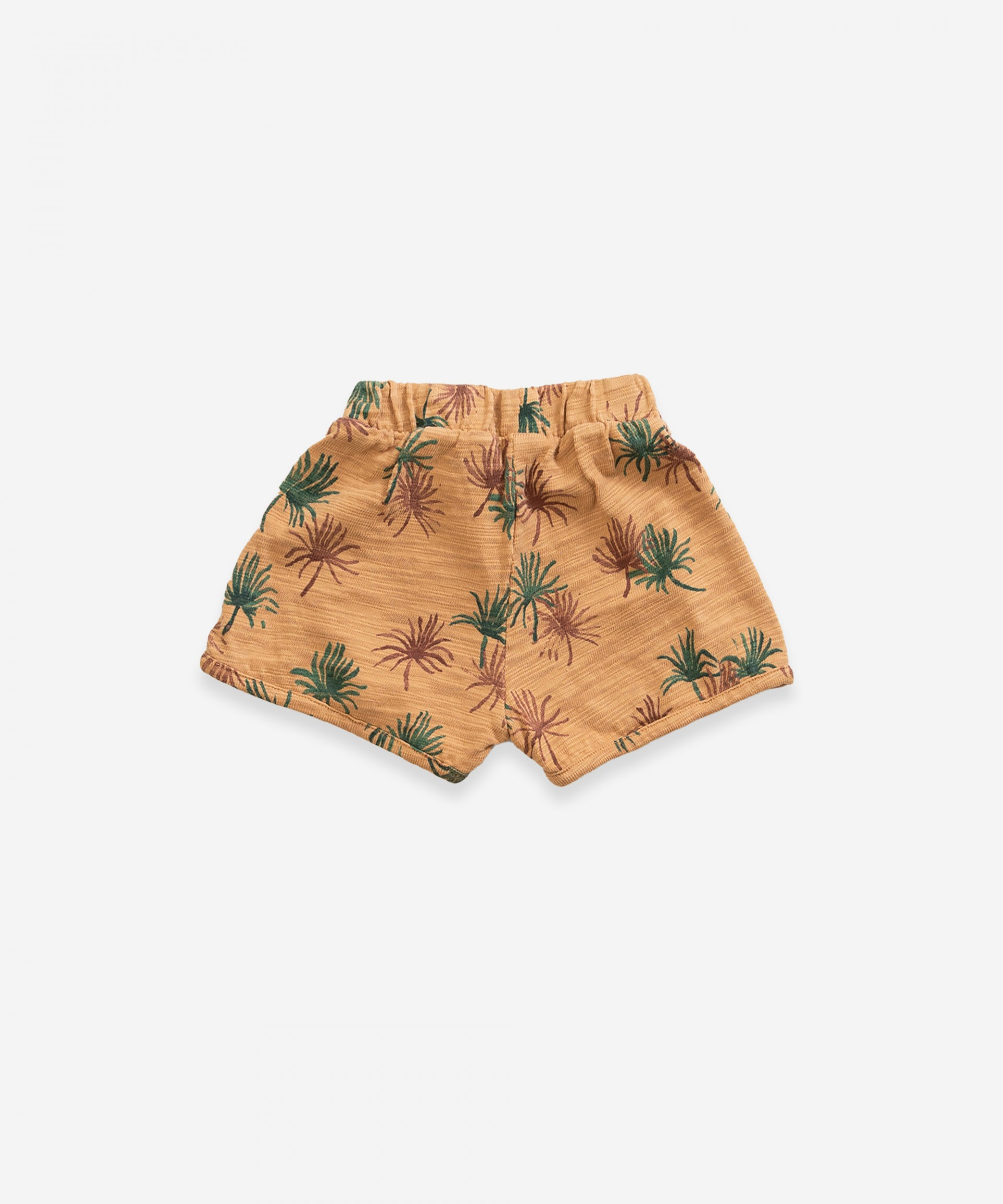Cotton shorts with print | Weaving
